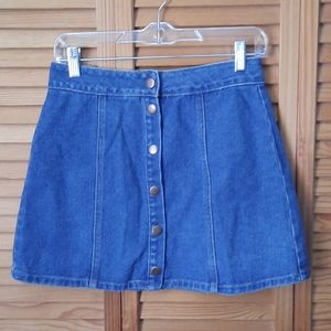 Melville Snap Up Denim Jean Skirt Size 27